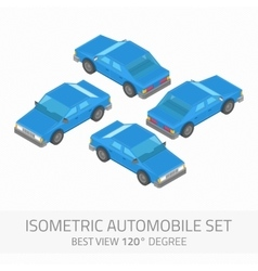 Isometric automobile set vector