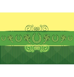 St patricks day abstract background with vector