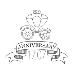 Birthday anniversary party black and white vector