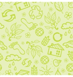 Ecological seamless pattern background vector