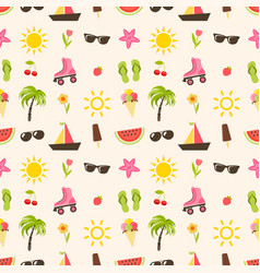 pattern with summer elements vector image