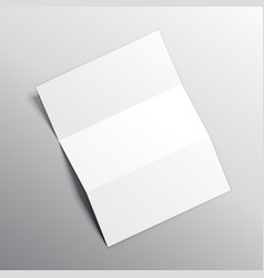 Folded paper mockup design vector