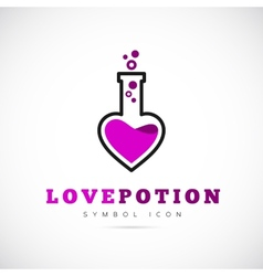 Love potion concept symbol icon or logo template vector