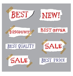Promotion labels vector