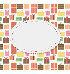 Frame in vintage gift box background vector