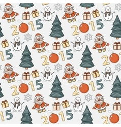 Seamless christmas patternsticker vector