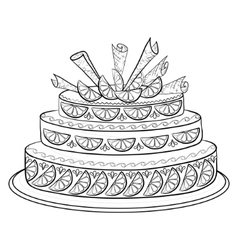 Holiday pie contour vector
