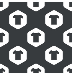 Black hexagon t-shirt pattern vector