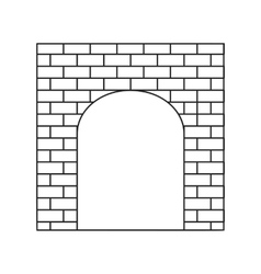 An old brick gate thin line icon vector