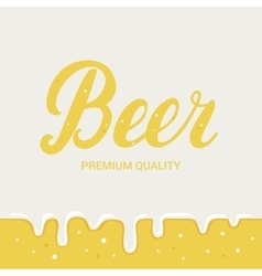 Beer festival poster lager beer background vector