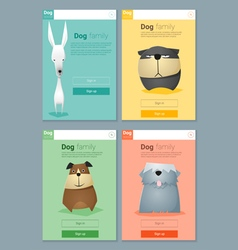 Animal banner with dogs for web design 7 vector image vector image