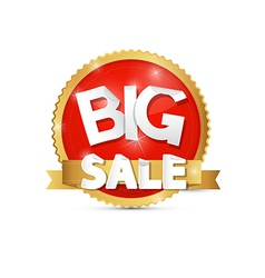 Big Sale Red Gold Label Sticker vector image vector image