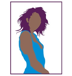 Black woman cartoon vector