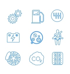 Car related icons on white vector image