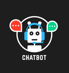 Chatbot icon like hotline service vector