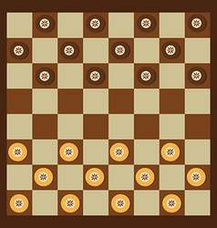 Checkers game vector image