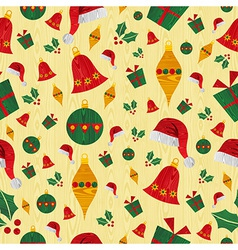 Christmas icons pattern background vector image vector image
