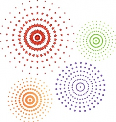 Circles icon set vector