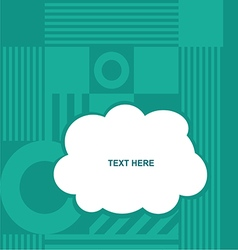 cloud with various item on blue background vector image vector image
