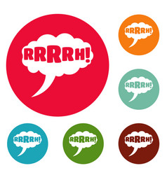 comic boom design icons circle set vector image