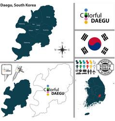 Daegu metropolitan city south korea vector