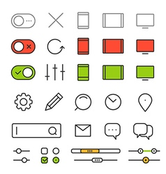 Different style trendy interface elements and vector image vector image
