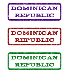 dominican republic watermark stamp vector image