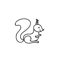 Doodle squirrel animal icon vector
