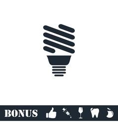ECO energy lamp icon flat vector image vector image