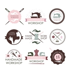 Handmade workshop logo vintage vector
