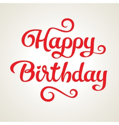 Happy birthday holiday inscription vector