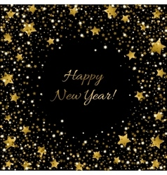 Happy new year card ssparkle sequin tinsel bling vector