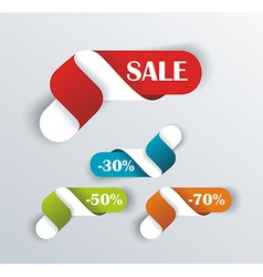 Hot deal color 3d realistic paper sale tags vector