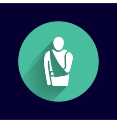 Medical flat icon pictogram eps 10 vector