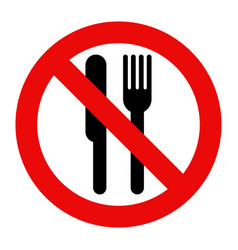 No eating allowed vector