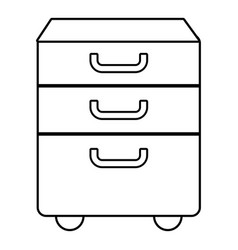 office closet icon outline line style vector image