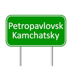 Petropavlovsk-Kamchatsky road sign vector image