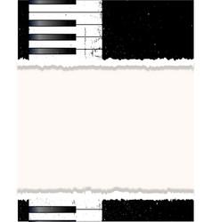Piano poster vector