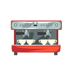 Professional coffee machine cartoon vector