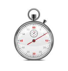realistic classic metal stopwatch vector image