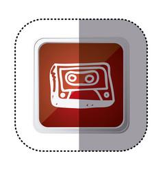 Red symbol radio technology icon vector