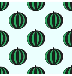 Seamless hand-drawn pattern with watermelon vector image vector image