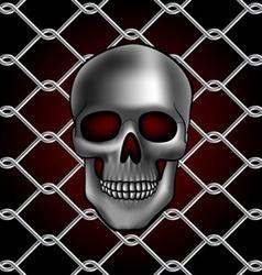 Skull fence vector