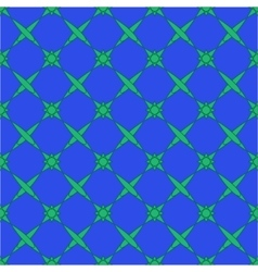Star green seamless pattern vector image vector image