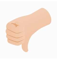 Thumb down gesture icon isometric 3d style vector image