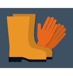 Gloves and boots icon graphic vector