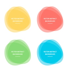 Colorful abstract circle round frames vector