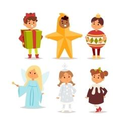 carnival costume kid vector image