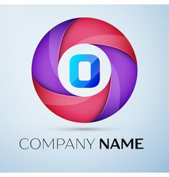 Letter o logo symbol in the colorful circle vector