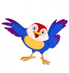 pointing bird vector image